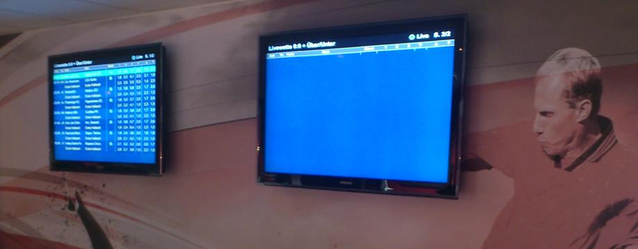 Bet Center schermen
